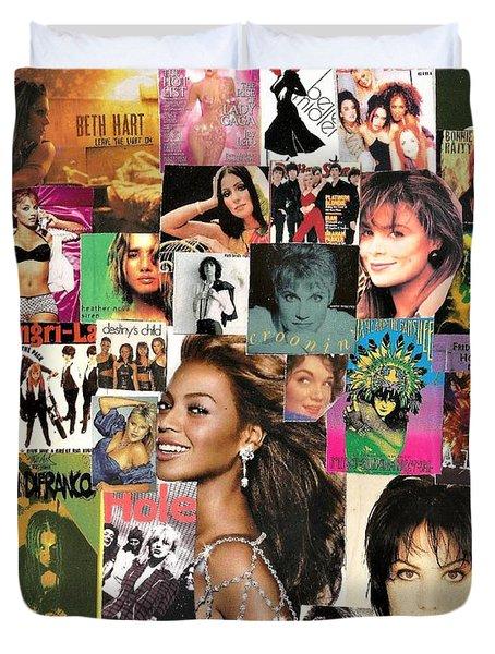 Music Ladies Collage 1 Duvet Cover