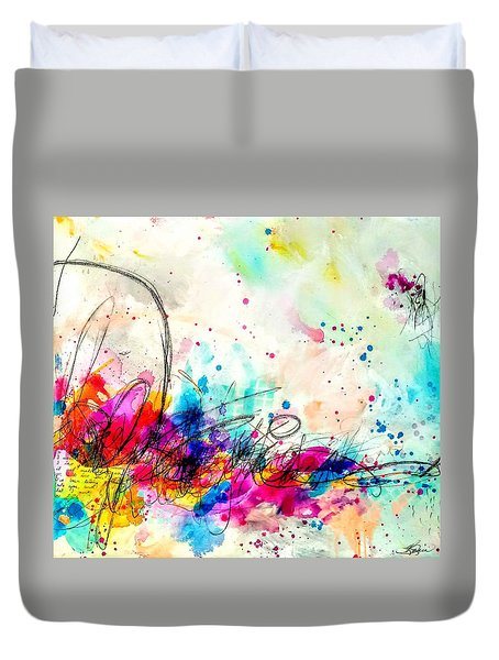 Duvet Cover featuring the painting My Ben, Be Mine, All Mine 2 by Tracy Bonin