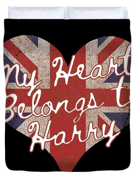 My Heart Belongs To Prince Harry Duvet Cover