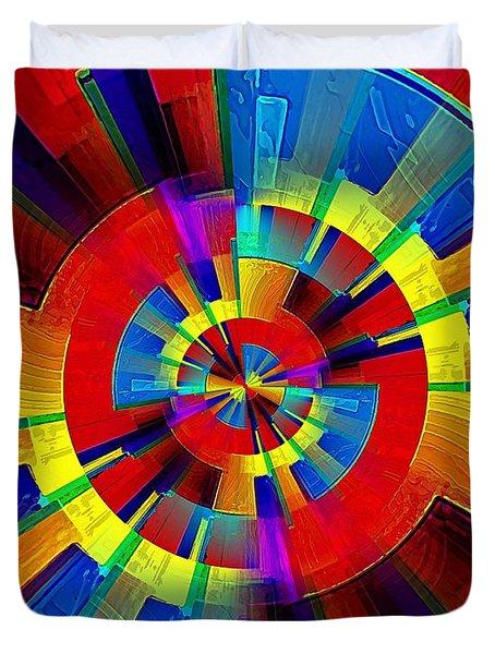 My Radar In Color Duvet Cover