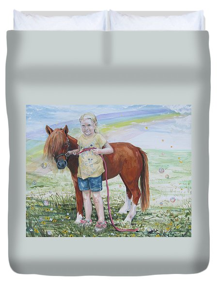 My Time With Ginger Duvet Cover