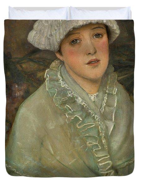 My Wee White Rose, 1882 Duvet Cover