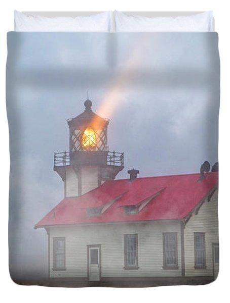 Mystical Point Cabrillo Lighthouse California Duvet Cover