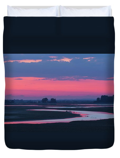 Duvet Cover featuring the photograph Mystical River by Davor Zerjav