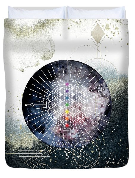 Duvet Cover featuring the digital art Namaste by Bee-Bee Deigner