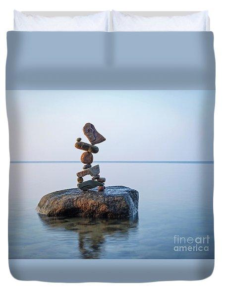 Zen Stack #9 Duvet Cover