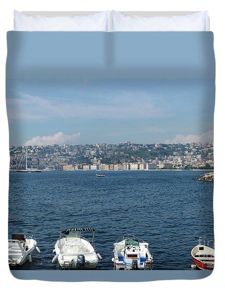 Naples Port Duvet Cover