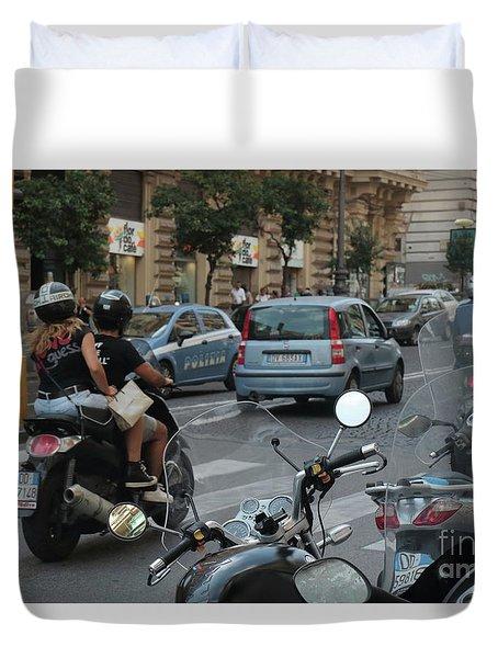 Naples Street Buzz Duvet Cover