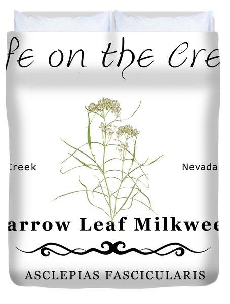 Narrow Leaf Milkweed Duvet Cover