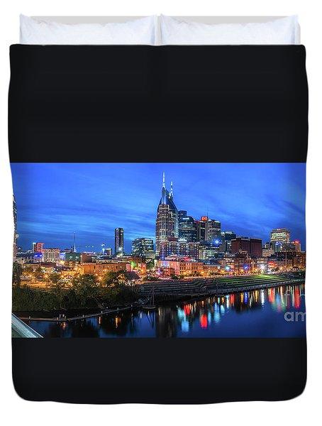 Nashville Night Duvet Cover