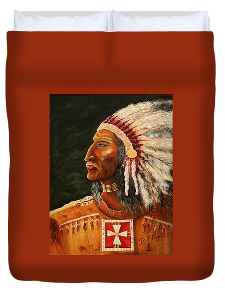 Native American Indian Chief Duvet Cover