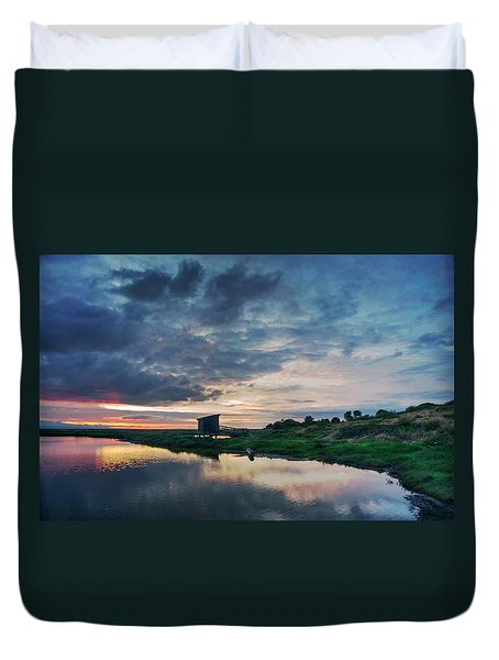 Duvet Cover featuring the photograph Nature Spectacle In Alviso by Quality HDR Photography