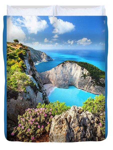 Navagio Bay Duvet Cover