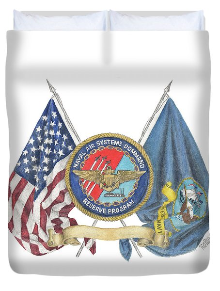 Naval Air Systems Command Reserve Program Duvet Cover