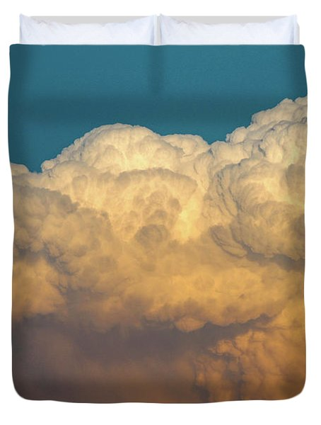 Nebraska Sunset Thunderheads 053 Duvet Cover