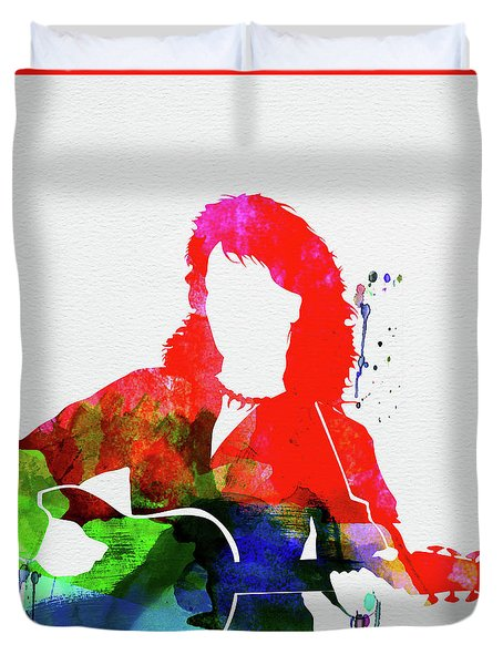Neil Diamond Watercolor Duvet Cover
