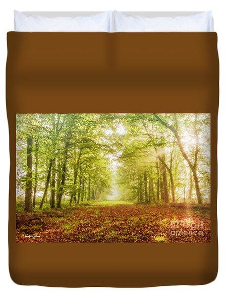 Neither Summer Nor Winter But Autumn Light Duvet Cover