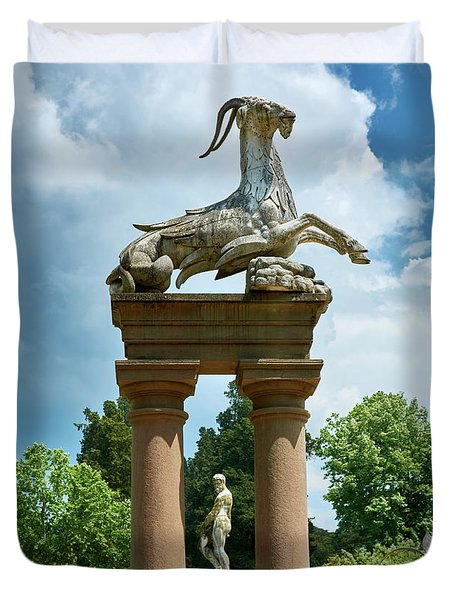 Neptune And Capricorn Duvet Cover