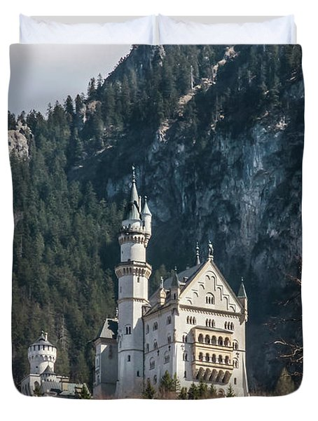 Neuschwanstein Castle On The Hill 2 Duvet Cover