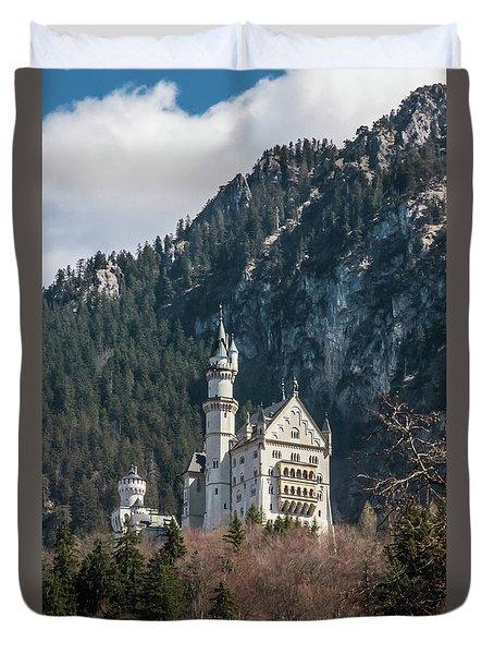 Neuschwanstein Castle On The Hill 2 Duvet Cover
