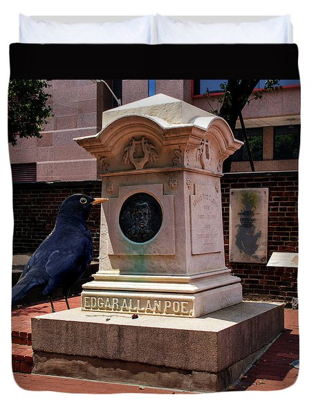 Duvet Cover featuring the photograph Nevermore Quoth The Raven by Bill Swartwout Fine Art Photography