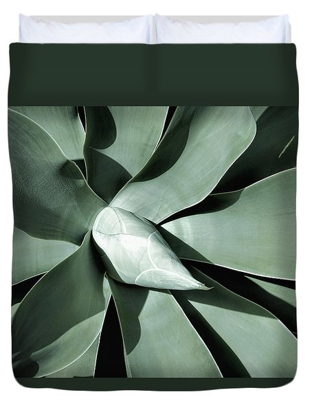Duvet Cover featuring the photograph New Growth I by Leda Robertson