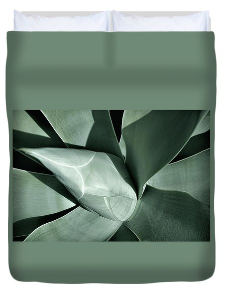 Duvet Cover featuring the photograph New Growth II by Leda Robertson
