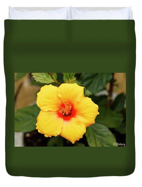 New Hibiscus Bloom Duvet Cover