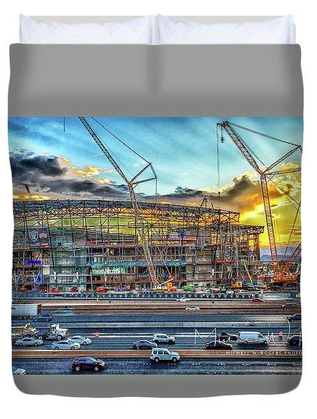 New Home For Las Vegas Raiders Duvet Cover