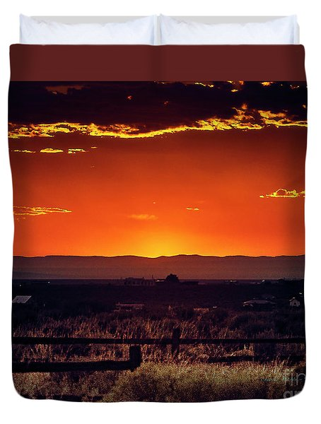 New Mexico Sunset Duvet Cover