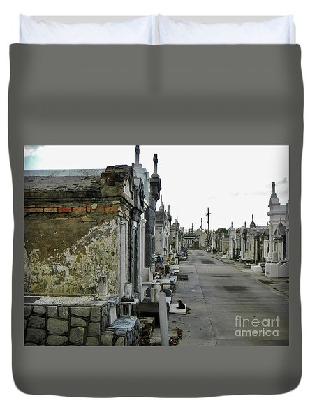 Duvet Cover featuring the photograph New Orleans Cemetery by Rosanne Licciardi