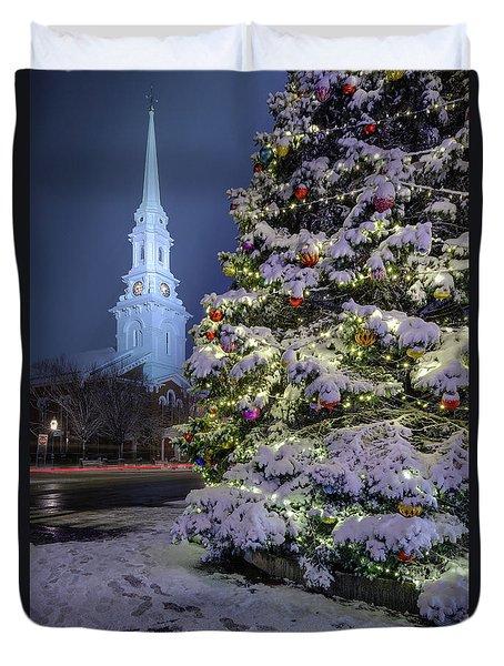 New Snow For Christmas Duvet Cover