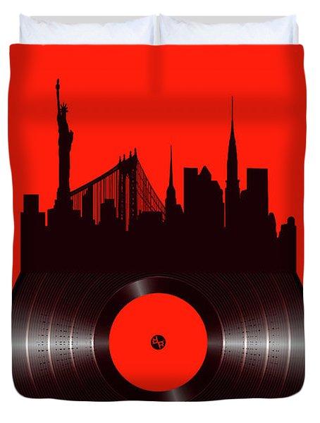 New York Vinyl Duvet Cover