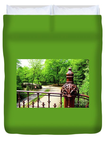 New York's Central Park Winterdale Arch Railing Cast Iron Art Duvet Cover