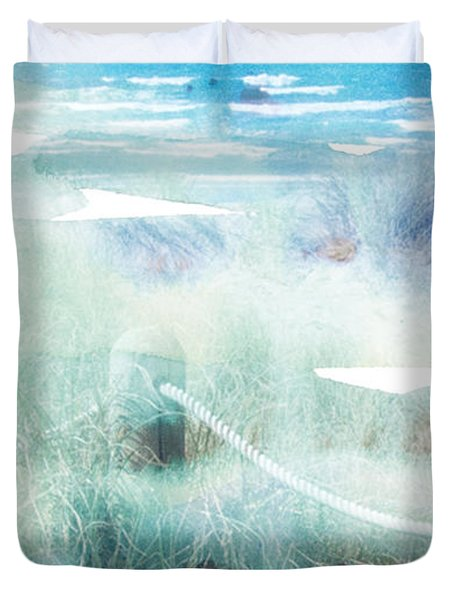 New Zealand Beachscape Duvet Cover