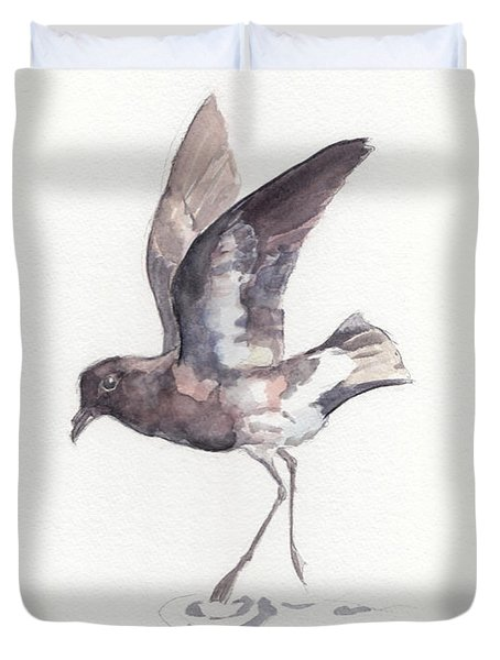New Zealand Storm Petrel Duvet Cover