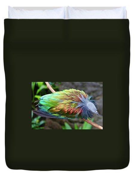Nicobar Pigeon Duvet Cover