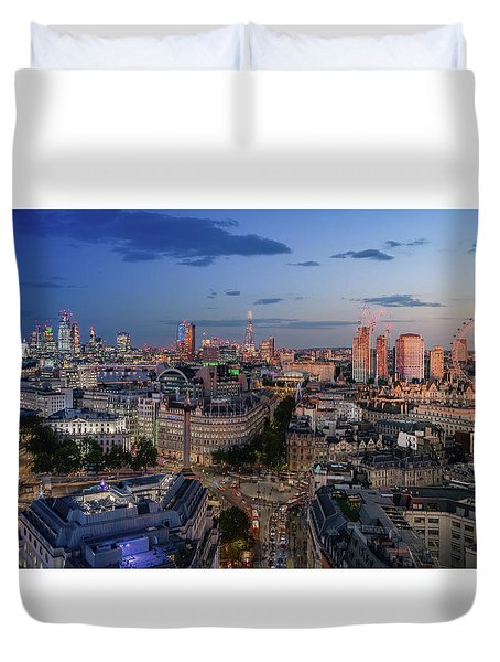 Duvet Cover featuring the photograph Night And Day by Stewart Marsden