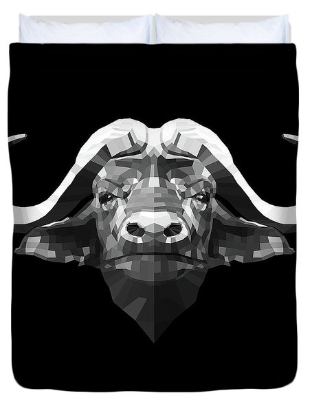Night Buffalo Duvet Cover