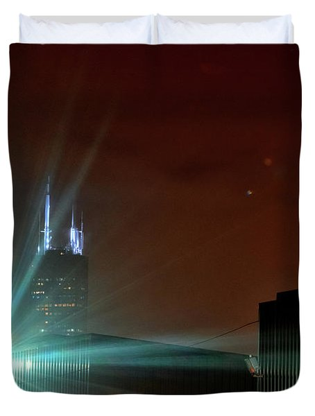 Night In The Industrial City Duvet Cover