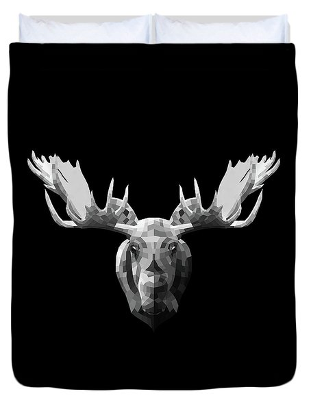 Night Moose Duvet Cover