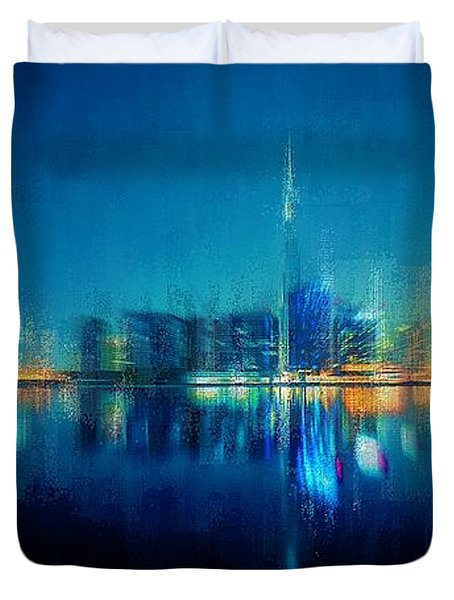Night Of The City Duvet Cover