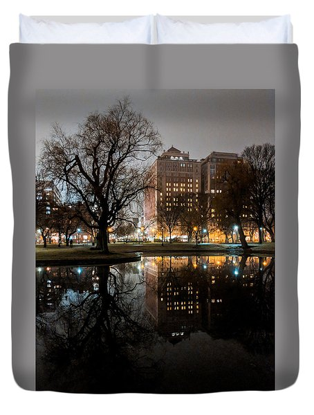 Night Reflection Duvet Cover
