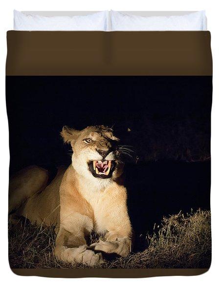 Nightmare Lioness Duvet Cover