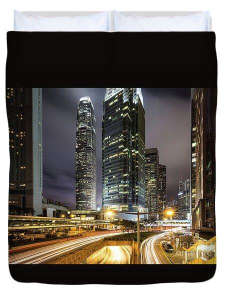 Nights Of Hong Kong Duvet Cover