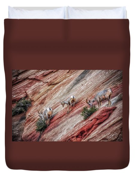 Nimble Mountain Goats 5694 Duvet Cover