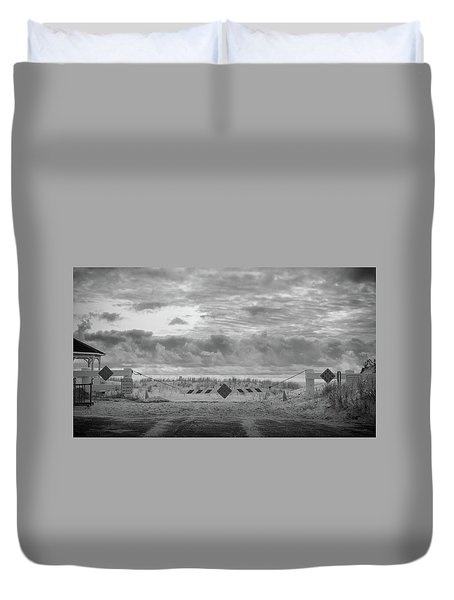 Duvet Cover featuring the photograph No Vehicles by Steve Stanger