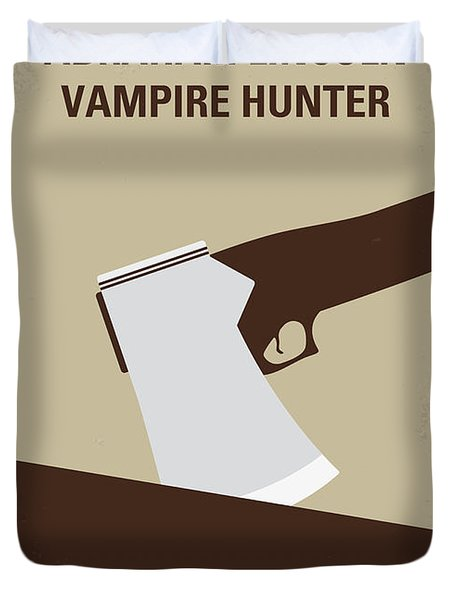 No1009 My Abraham Lincoln Vampire Hunter Minimal Movie Poster Duvet Cover