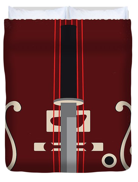 No1020 My Six-string Samurai Minimal Movie Poster Duvet Cover