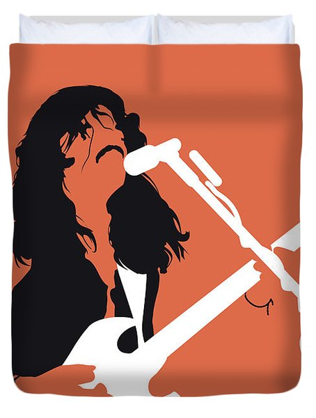 No243 My Doobie Brothers Minimal Music Poster Duvet Cover